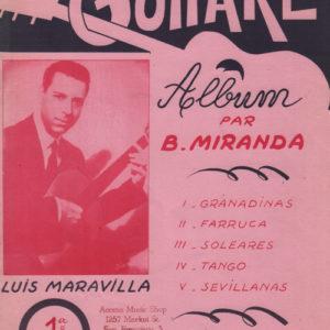 Album guitare par B. Miranda