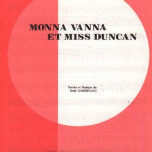 Monna Vanna et miss Duncan