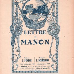 Lettre à Manon