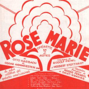 Oh ! ma Rose Marie