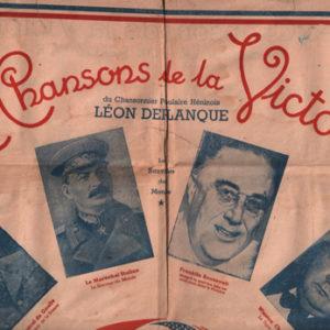 Chansons de la Victoire du chansonnier populaire Héninois (Les)